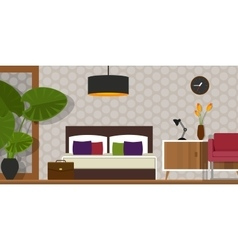 Bedroom interior house furniture homr vector