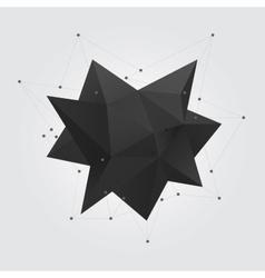 Black polygonal geometric abstract shape figure vector image vector image