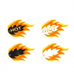 burning label vector image vector image