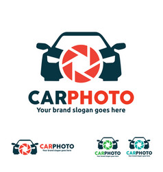 car camera logo for vehicle photo and video vector image vector image