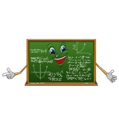 Cartoon funny board with mathematics vector image vector image