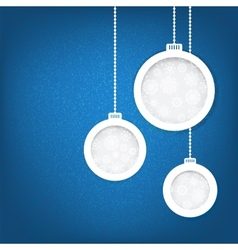 Christmas balls cut from paper concept eps8 vector