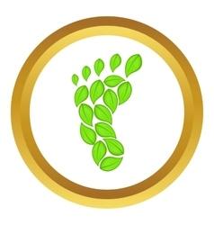 Eco footprint icon vector