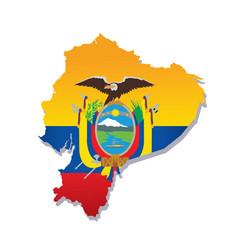 Ecuador flag amp map vector