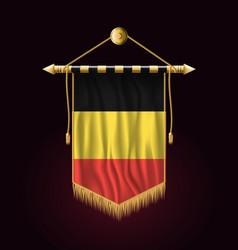 Flag of belgium festive vertical banner wall vector