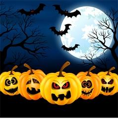Full moon on halloween vector