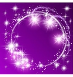 Glowing purple background vector image