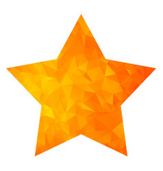low poly golden star vector image vector image