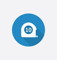 Measurement flat blue simple icon with long shadow vector