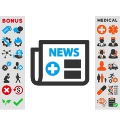 Medical Newspaper Icon vector image