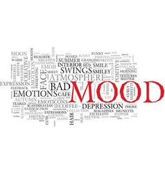 mood word cloud concept vector image