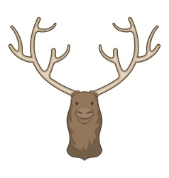 Moose head icon cartoon style vector