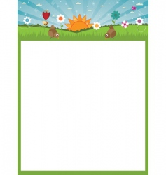nature poster vector image vector image