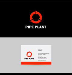 Pipes logo pipes emblem pipeline icon vector