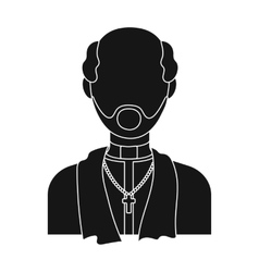 Priest icon in black style isolated on white vector image