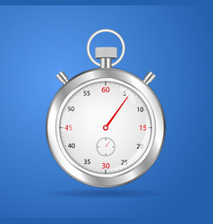 Realistic stopwatch timer stop watch vector