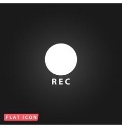 Rec button flat icon vector