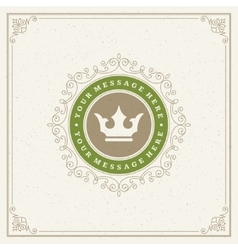 Royal Logo Design Template Flourishes vector image