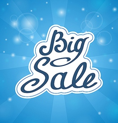 Samples in words Big Sale on blue background vector image