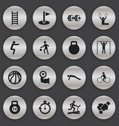 set of 16 editable healthy icons includes symbols vector image vector image