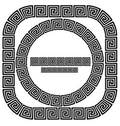 Set of greek ornamenal frames vector