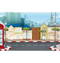 Shops on the empty street vector image vector image