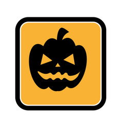 Square frame of halloween with pumpkin vector