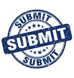 Submit blue grunge stamp vector