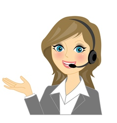 telephone operator vector image vector image