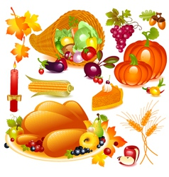 thanksgiving set vector image vector image