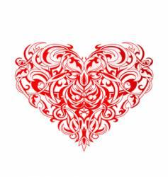 tribal art heart vector image vector image