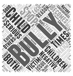 What to do if your child is a bully word cloud vector