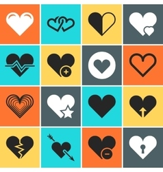 Heart icons for wedding and valentines day vector