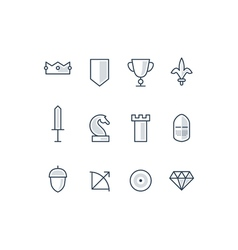 Tactics and strategy icons vector image