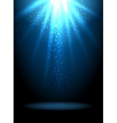 Magic light background Blue holiday vector image