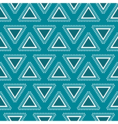 Tribal blue seamless pattern vector