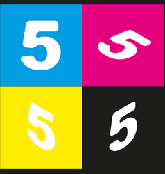 number 5 sign design template element vector image