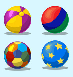 colorful children s inflatable ball vector image