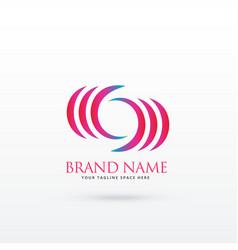Abstract curvy logo design vector