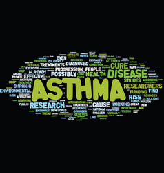 The latest asthma research text background word vector