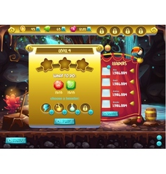 Example of user interface of a computer game a vector