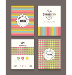 Vintage retro frames and backgrounds design vector