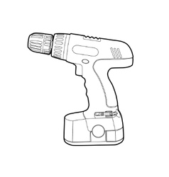 Cordless drill vector