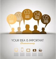info brainstorming orange vector image