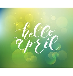 Hello april lettering typography vector