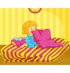 Girl awake vector image