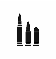 Bullets icon simple style vector