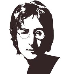 A of a portrait of singer john vector