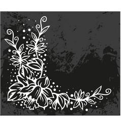 Black floral corner vector