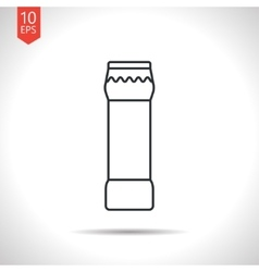 Bottle with cleaning powder vector